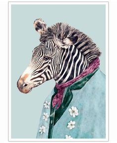 Zebra VON Animal Crew now on JUNIQE!