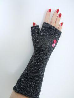 fingerless mittens - Rowan