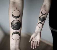 Phases of the moon... Except I'd put the full 8.