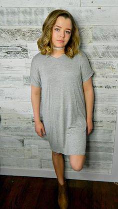 7d78a84d94785 Heather Gray Dress – Lou Lou Girls Shop Simple Outfits