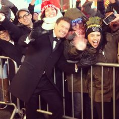 """Pin for Later: See How Your Favorite Stars Are Celebrating the New Year! Ryan Seacrest """"getting a jumpstart on 2016...literally #happynewyear"""""""