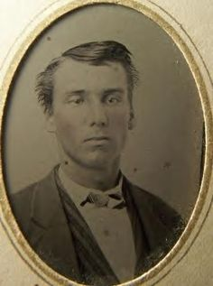 Jim Cummings, 1866. He was James Robert Cummings of Clay County, Missouri, and a Confederate guerilla under William C. Quantrill. He was also a member of the Jesse James gang post war. My great great uncle.