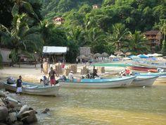 Fishing boards at Boca de Tomalinda Mexico.