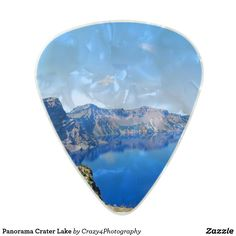 Panorama Crater Lake Pearl Celluloid Guitar Pick