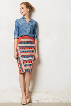 Merida Pencil Skirt - anthropologie.com スカート良い。