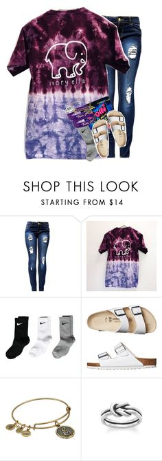 """""""tomorrow's ootd"""" by ellaswiftie13 ❤ liked on Polyvore featuring NIKE, Birkenstock, Alex and Ani and Avery"""