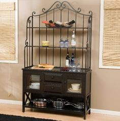 bakers rack | Bakers Rack with Wood Cabinets Images