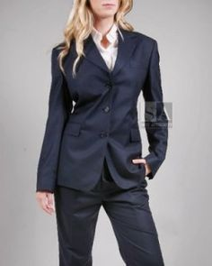 New Blue Lady Trouser Suit Womens Business Suits Female Formal Pant Suits For Weddings Formal Office Uniform Work Suits Custom Invigorating Blood Circulation And Stopping Pains Suits & Sets Pant Suits