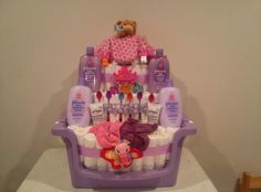 Deluxe Diaper Cake!! Customized and made to order!