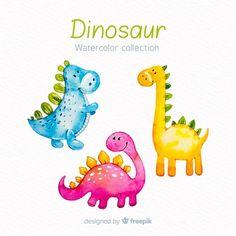 Colección de dinosaurios en acuarela Train Illustration, Balloon Illustration, Watercolor Illustration, Panda Illustration, Dinosaur Museum, Dinosaur Silhouette, Dinosaur Coloring, Cartoon Dinosaur, Dinosaur Nursery