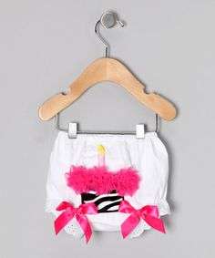 Take a look at this Zebra Cupcake Bloomers - Infant & Toddler by Happy Birthday by Miss Fancy Pants on #zulily today!