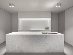 Vlamertinge is a minimal kitchen renovation created by Belgium-based architects minus. (1)
