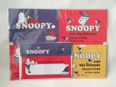 Snoopy letter set Sanrio NEW hat