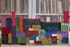 Tommye McClure Scanlin's tapestry diary from 2009. I've always loved the idea of a tapestry diary ... hrrmmm, maybe I'll have to plan to do one next year ;) This one is gorgeous, it looks like a little city - each 'box' is one day's weaving.