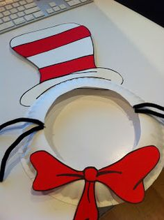 You'll need: -a paper plate -black pipe cleaners -white cardstock -red paper -scissors -glue -a black marker Ar. Dr. Seuss, Dr Seuss Week, Classroom Crafts, Preschool Crafts, Fun Crafts, Classroom Ideas, Preschool Themes, Dr Seuss Activities, Activities For Kids