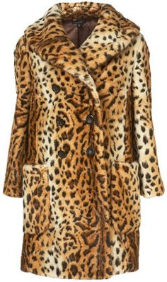 Channel A 1960s Vixen With A Leopard Coat From Topshop | Topshop's vintage faux leopard coat ($200) is not for the faint of heart.