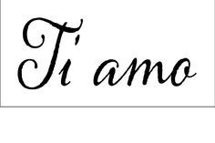 Ti amo on or or inch laser-cut por PearlDesignStudio Laser Cut Stencils, Tattoos With Meaning, Laser Cutting, I Tattoo, Meant To Be, Etsy, Tattoo Ideas, Stamps, Printables