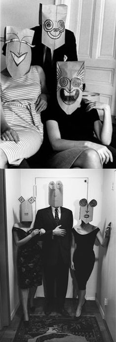 from Inge Morath & Saul Steinberg's Mask series