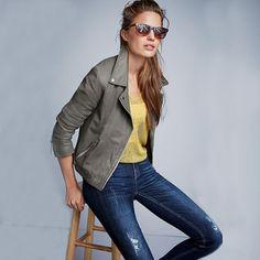 European Style Women 2015 Autumn New Fashion Slim Tilted Zipper PU Locomotive Leather Long Sleeve Stand Collar Jacket Coat E160