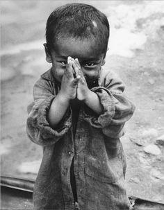 Namaste 1966 Nepal -- Portrait - Culture - Child - Candid - Black and White - Photography