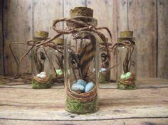 Miniature Bird Nest Terrarium Necklace customizable spring wedding favor HANDMADE by Gypsy Raku
