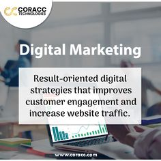 """Marketing has always been regarding the connection with your audience in the right place and at the right time. Coracc Technologies with an """"n"""" number of #digital _marketing strategies work in an effective way to attract, engage, and delight customers online to increase ROI. . . #coracctechnologies #digitalmarketingagency  #ecommercemarketing #seo #ppc #contentmarketing #sem #smo #socialmedia #marketing #success #roi #revenue #conversions #leads #webdevelopment #webdesign #lms #crm Online Marketing Services, Digital Marketing Strategy, Marketing Strategies, Email Marketing, Content Marketing, Affiliate Marketing, Customer Engagement, Web Development, Seo"""