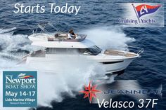 The #newportbeachboatshow starts today so if you are in the area or want to see the #debut of the all new #Jeanneau #Velasco37F please stop by I look forward to hopefully seeing you #IVTYachtSales #IanVanTuyl #cruisingyachts #YachtsForSaleInCalifornia #Powerboats #yachts #JeanneauYachts #California