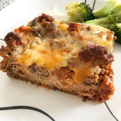 Low carb cheeseburger casserole from Keto With Crystal on Instagram! #keto #ketodiet #ketogenic #ketorecipes #ketofood #easyketo #ketomeals #mealprep #lowcarb #cheeseburgercasserole #casserole