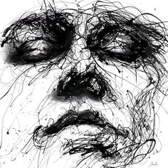 Powerful Dripping Paint Portraits by Agnes-Cecile