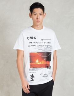 Blood Brother White Venture T-Shirt Model Picture