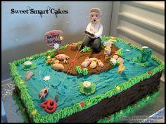 Fishing Cake (Bloemfontein, ZA) Fondant Toppers, Cupcake Toppers, Icing, Cake Decorating, Cupcakes, Fish, Cookies, Lifestyle, Desserts