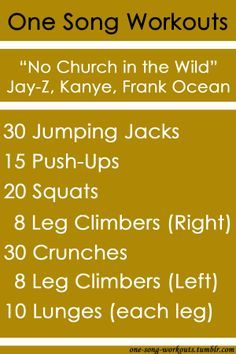 one song workouts tumblr - Google Search