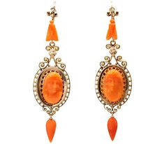 Image result for antique coral earrings lang antiques