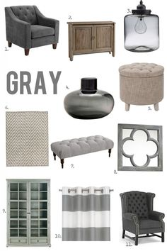 For the Love of Color: Gray - I love gray for its versatility! Cool or warm - it looks great in any space.