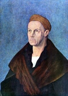 Albrecht Dürer — Portrait of Jakob Fugger. Jakob Fugger at the height of his power. 1518 tempera on canvas. Albrecht Durer Paintings, Albrecht Dürer, Hans Holbein, Jan Van Eyck, Renaissance Paintings, Renaissance Art, Hieronymus Bosch, Italian Artist, Tempera
