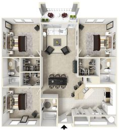 Home design 💭 A really cool floor plan, maximising space Comment below and te. Home design 💭 A rea Model House Plan, Sims House Plans, House Layout Plans, House Layouts, Small House Plans, House Floor Plans, Home Building Design, Home Design Plans, Plan Design