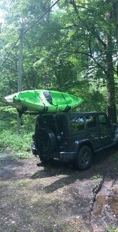 Two Kayaks on a Hitchmount-Rack = No problem! Kayak Rack, Kayaks, Jeep Life, Adventure Time, This Or That Questions, Wallpaper, Kayaking, Wallpapers, Finn The Human