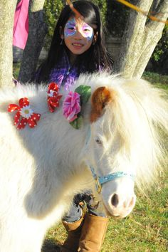 Lily Peppermint Pony Fuzzy Mini Horse Princess Birthday Party Face Painting MD