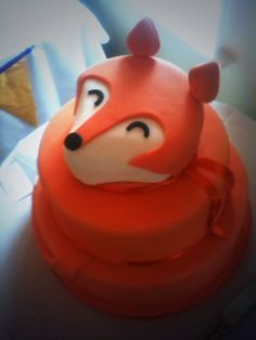 Fox wedding cake