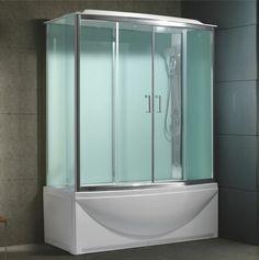 une cabine de deouche intégrale, pare baignoire coulissant