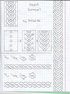 heart zentangle pattern