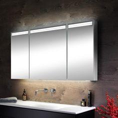 Schneider ARANGALINE mirror cabinet W: 130 H: 70 D: 12 cm, with 3 doors