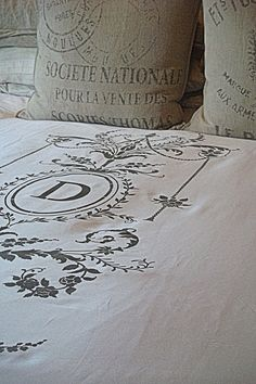 Monogram Duvet Cover