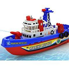 Toys Automatic Fireboat Squirter Swimming. * See this great product. (This is an affiliate link) #BathToys