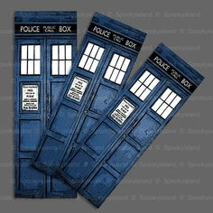 BBC Doctor Who TARDIS premium bookmark by Spookyisland on Etsy, £1.25   - great gift for the sister