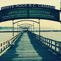 Enjoy some Irish grub this month in White Rock! Brooklyn Bridge, Irish, Dance, Rock, Places, Green, Summer, Travel, Dancing