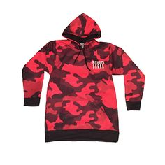Camo Hoodie - Do It Like It's Legal - Red