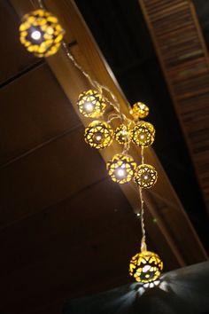 Luxury Gold Morocon Pattern Cut-Out Metal String by StudioKaeth