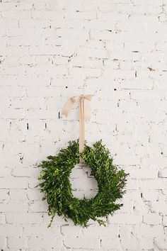 Trader Joe's Boxwood Wreath. $10 (unheard of for a boxwood). Must buy in store.
