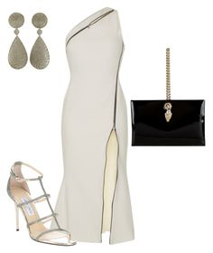 """Movie Premiere"" by arta13 on Polyvore featuring David Koma, Buccellati, Jimmy Choo and Roberto Cavalli"